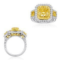 18k 2-tone Gold Diamond Ring