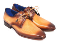 Paul Parkman Brown & Camel Hand-Painted Derby Shoes (ID326-CML)