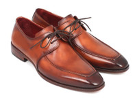 Paul Parkman Brown Leather Apron Derby Shoes For Men (ID33SX92)
