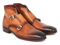 Paul Parkman Double Monkstrap Boots Brown (ID8154-BRW)