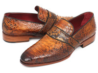 Paul Parkman Genuine Python Loafers Camel (ID11CML94)
