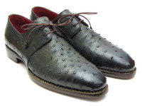 Paul Parkman Goodyear Welted Green Genuine Ostrich Derby Shoes (ID31VL74)