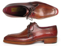 Paul Parkman Goodyear Welted Square Toe Apron Derby Shoes Brown (ID322A7)
