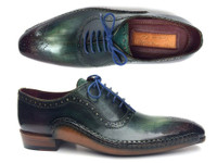 Paul Parkman Green & Purple Handmade Oxfords (IDOPK215C)