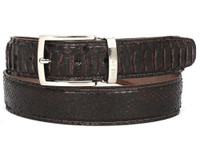 PAUL PARKMAN Men's Brown Genuine Python (snakeskin) Belt (IDB03-BRW)