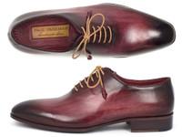 Paul Parkman Men's Burgundy Wholecut Plain Toe Oxfords (IDDS65BUR)