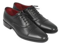 Paul Parkman Men's Captoe Oxfords Black (ID077-BLK)