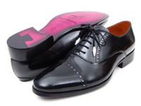Paul Parkman Men's Captoe Oxfords Black Dress Shoes (ID78RG61)