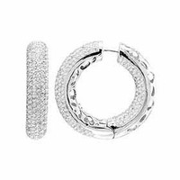 6.0 Ct WG Classic Diamond Earrings