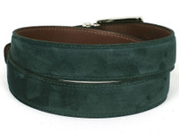 PAUL PARKMAN Men's Green Suede Belt (IDB06-GREEN)