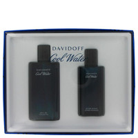COOL WATER by Davidoff Gift Set -- 4.2 oz Toilette  Spray + 2.5 oz After Shave Splash