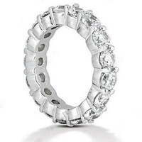 5 Carat F-g/vs Round Diamond Eternity Band In 18k Gold