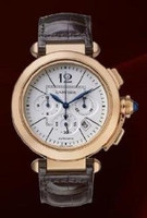 Cartier Pasha Chronograph Extra Large (RG/ Silver/ Leather)