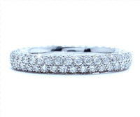 1.74 cttw Diamond Band In 18k White Gold