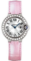 Cartier Ballon Bleu Small (WG Diamonds/Silver/ Leather)