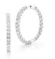 7.00 Ct Diamond Hoop Earrings Inside Out