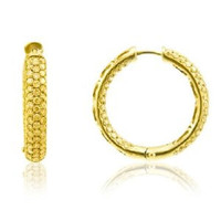 8.00 Ctw Fancy Yellow Diamond Hoop Earrings Inside Out