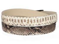PAUL PARKMAN Men's Natural Genuine Python (snakeskin) Belt (IDB03-NAT)