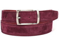 PAUL PARKMAN Men's Purple Suede Belt (IDB06-PURP)