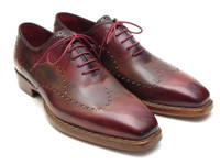 Paul Parkman Wingtip Oxford Goodyear Welted Bordeaux & Camel (ID087LX)