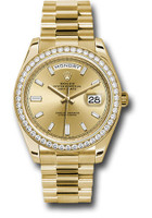 Rolex Watches: Day-Date 40 YG Diamond Bezel 228348RBR chbdp