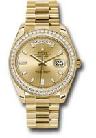 Rolex Watches: Day-Date 40 YG Diamond Bezel 228348RBR chbdp
