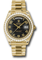 Rolex Watches: Day-Date II President Yellow Gold - Diamond Bezel 218348 bkwap