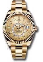 Rolex Watches: Sky-Dweller Yellow Gold 326938