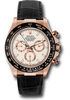 Rolex Watches: Daytona Everose Gold - Leather Strap 116515 LNi