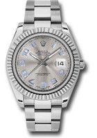 Rolex Watches: Datejust II 41mm Steel and White Gold - Fluted Bezel - Oyster 116334 gao