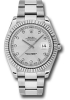 Rolex Watches: Datejust II 41mm Steel and White Gold - Fluted Bezel - Oyster 116334 sdo