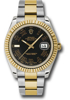 Rolex Watches: Datejust II 41mm Steel and Yellow Gold - Fluted Bezel - Oyster  116333 bkrio