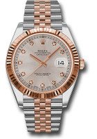 Rolex Watches: Datejust 41 Steel and Pink Gold - Fluted Bezel - Jubilee 126331 sudj
