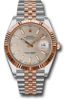 Rolex Watches: Datejust 41 Steel and Pink Gold - Fluted Bezel - Jubilee 126331 suij