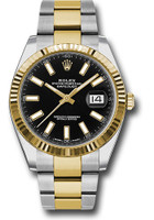 Rolex Watches: Datejust 41 Steel and Yellow Gold - Fluted Bezel - Oyster  126333 bkio