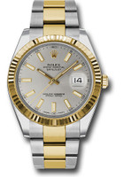 Rolex Watches: Datejust 41 Steel and Yellow Gold - Fluted Bezel - Oyster 126333 sio
