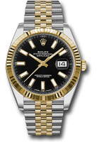 Rolex Watches: Datejust 41 Steel and Yelow Gold - Fluted Bezel - Jubilee 126333 bkij