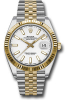 Rolex Watches: Datejust 41 Steel and Yelow Gold - Fluted Bezel - Jubilee 126333 wij