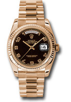 Rolex Watches: Day-Date President Pink Gold - Fluted Bezel - President  118235 bkap