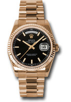 Rolex Watches: Day-Date President Pink Gold - Fluted Bezel - President 118235 bksp