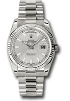 Rolex Watches: Day-Date President White Gold - Fluted Bezel - President 118239 ssp