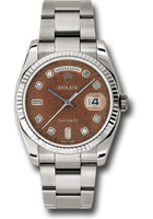 Rolex Watches: Day-Date President White Gold - Fluted Bezel - Oyster 118239 hbjdo