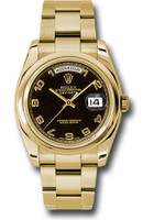 Rolex Watches: Day-Date President Yellow Gold - Domed Bezel - Oyster 118208 bkao
