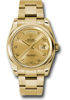 Rolex Watches: Day-Date President Yellow Gold - Domed Bezel - Oyster 118208 chao