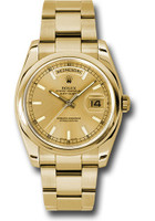 Rolex Watches: Day-Date President Yellow Gold - Domed Bezel - Oyster 118208 chso