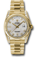 Rolex Watches: Day-Date President Yellow Gold - Fluted Bezel - Dia Lugs - President  118338 sdp