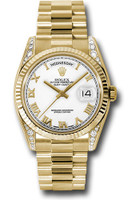 Rolex Watches: Day-Date President Yellow Gold - Fluted Bezel - Dia Lugs - President 118338 wrp