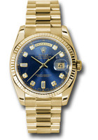 Rolex Watches: Day-Date President Yellow Gold - Fluted Bezel - President  118238 bdp