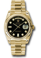 Rolex Watches: Day-Date President Yellow Gold - Fluted Bezel - President 118238 bkdp