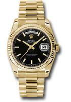 Rolex Watches: Day-Date President Yellow Gold - Fluted Bezel - President  118238 bksp